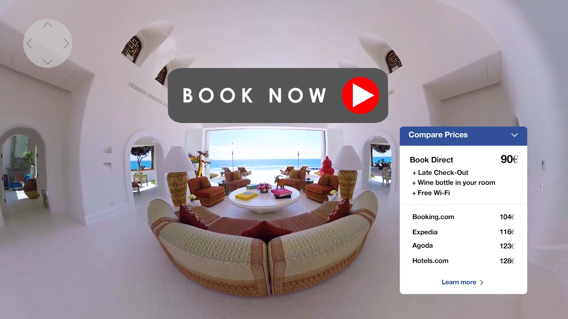 VR book now button with rate parity
